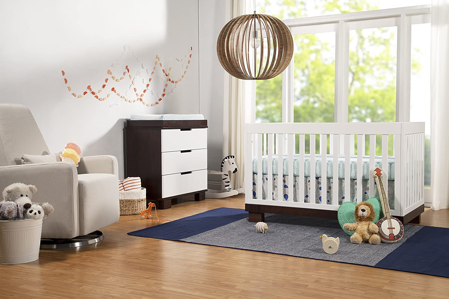 Amazon.com : Babyletto Modo 3 In 1 Convertible Crib With Toddler Bed  Conversion Kit, Espresso / White : Crib Skirt White : Baby