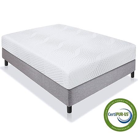 Best Choice Products 10 Dual Layered Memory Foam Mattress Queen- CertiPUR-US Certified Foam