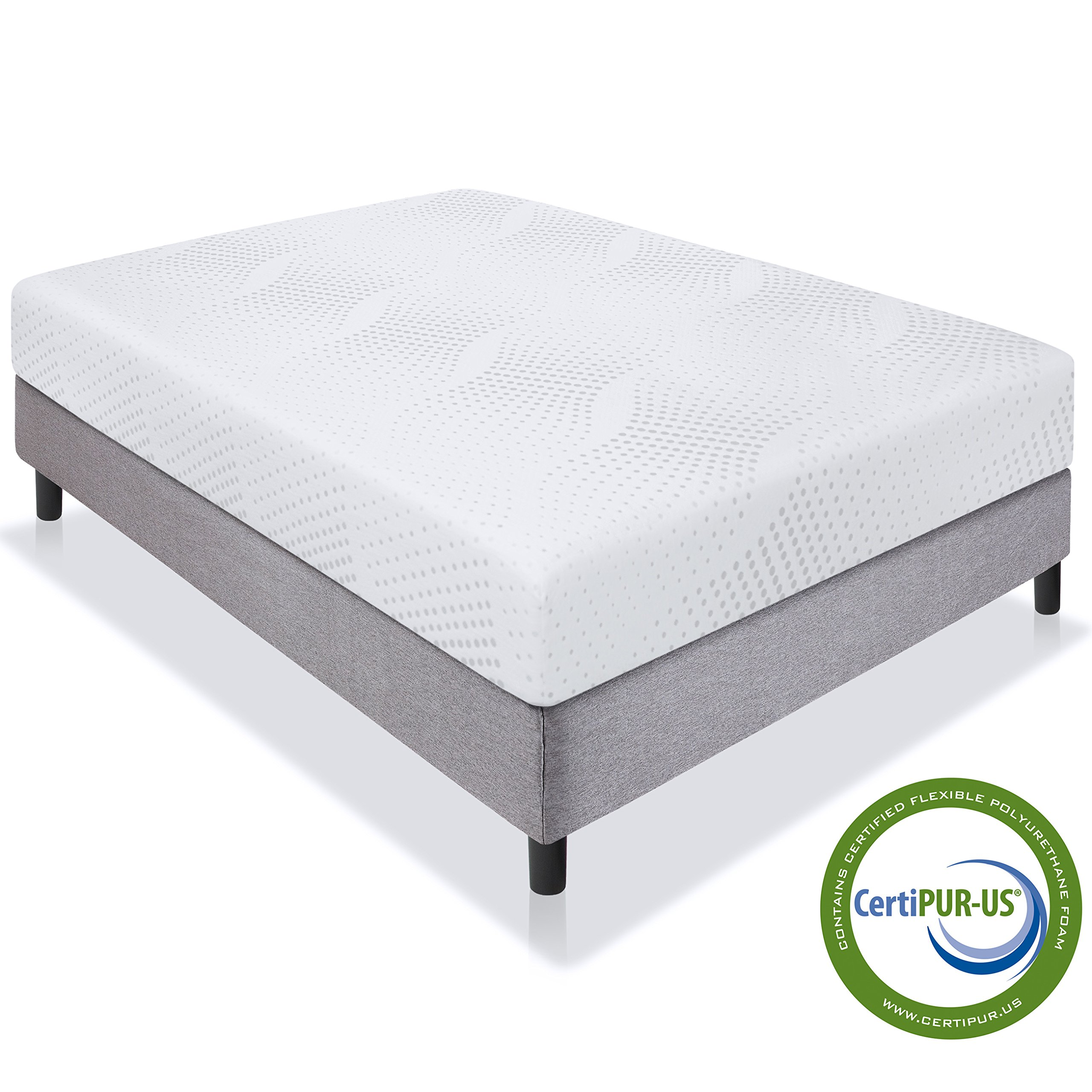 Best Choice Products 10'' Dual Layered Memory Foam Mattress Full- CertiPUR-US Certified Foam