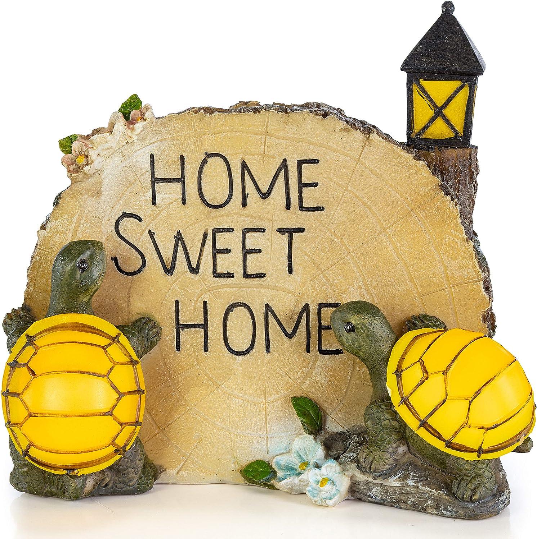 VP Home Turtles Home Sweet Home Solar Powered LED Outdoor Decor Garden Light