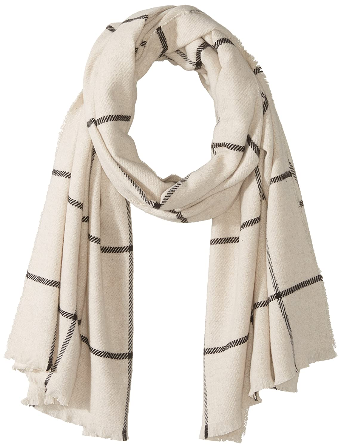 French Connection Women's Window Pane Check Scarf classic cream/black O/S SSICT