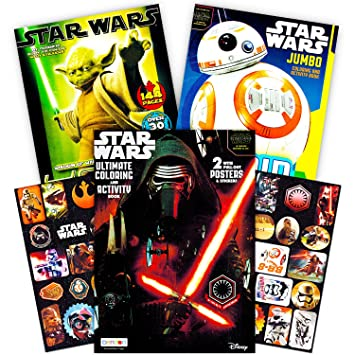 Amazoncom Star Wars Coloring Book Super Set with Stickers and