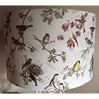Birds Postcard Lampshade, shabby chic, vintage, pastels, antique style