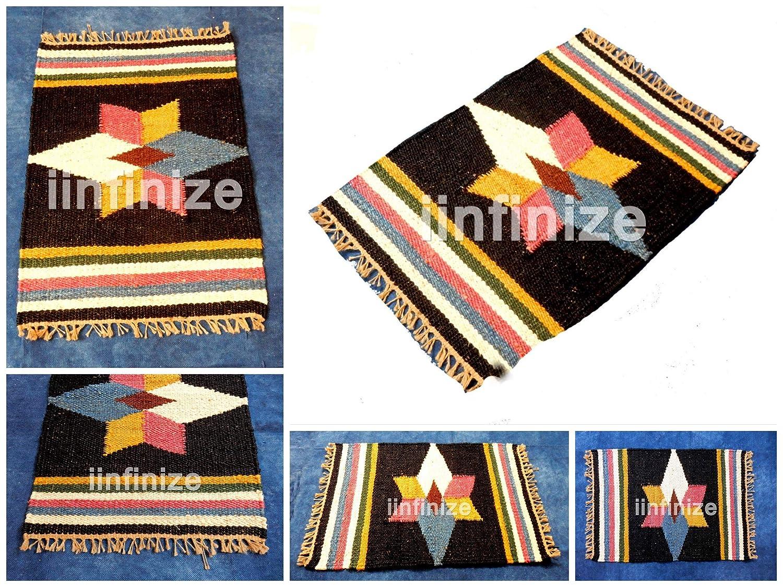 iinfinize Alfombra Decorativa de Yute con diseño de Estrella ...