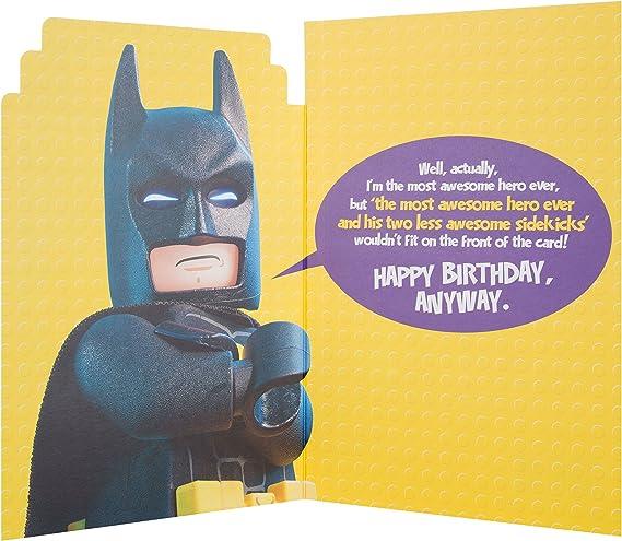 /Tarjeta de Lego Batman asombroso Heroes tarjeta de cumplea/ños Hallmark/