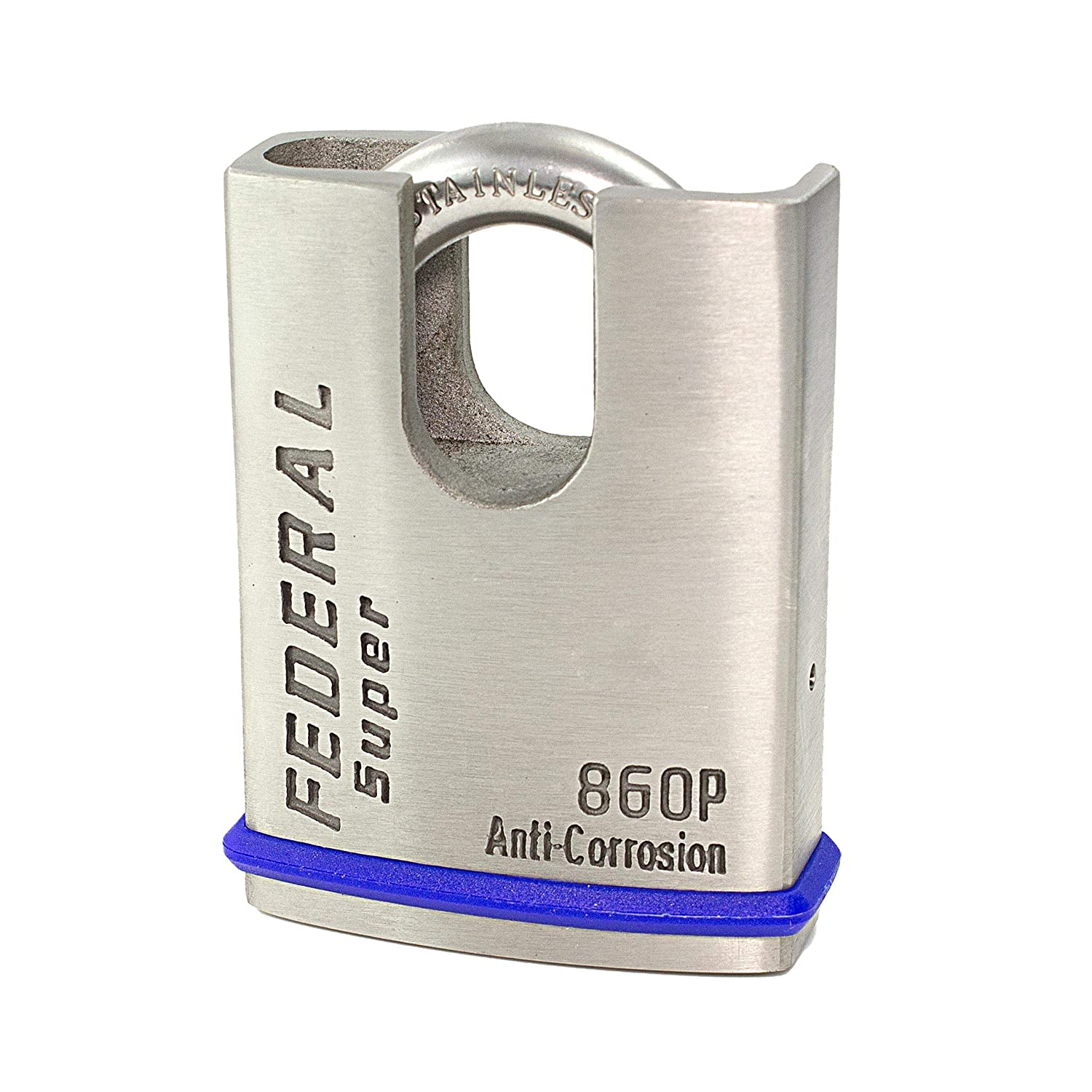 Federal FD860P - 60mm Closed Shackle Stainless Steel Marine Padlock - 10 Year Guarantee - 11mm Shackle Thickness