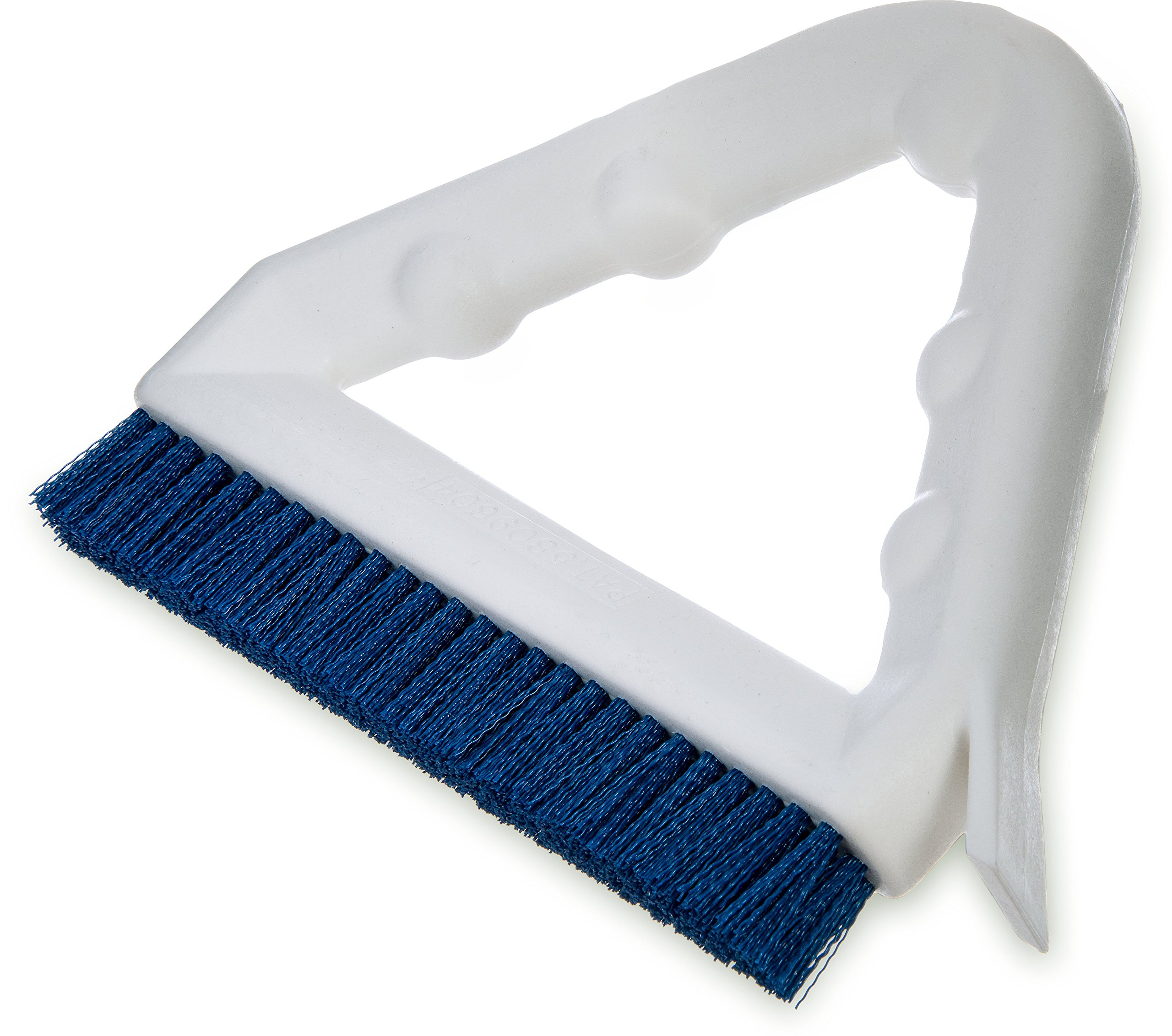 Carlisle 4132314 Sparta Tile and Grout Brush with Scraper, 9'', Blue