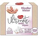 Huggies Ultimate Micellar Water Baby Wipes, 256 Wipes (4 x 64 Pack)