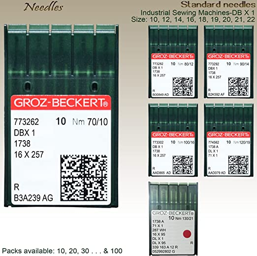 GROZ-BECKERT Agujas para máquina de coser industriales estándar nm ...
