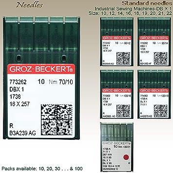 GROZ-BECKERT Agujas para máquina de coser industriales ...