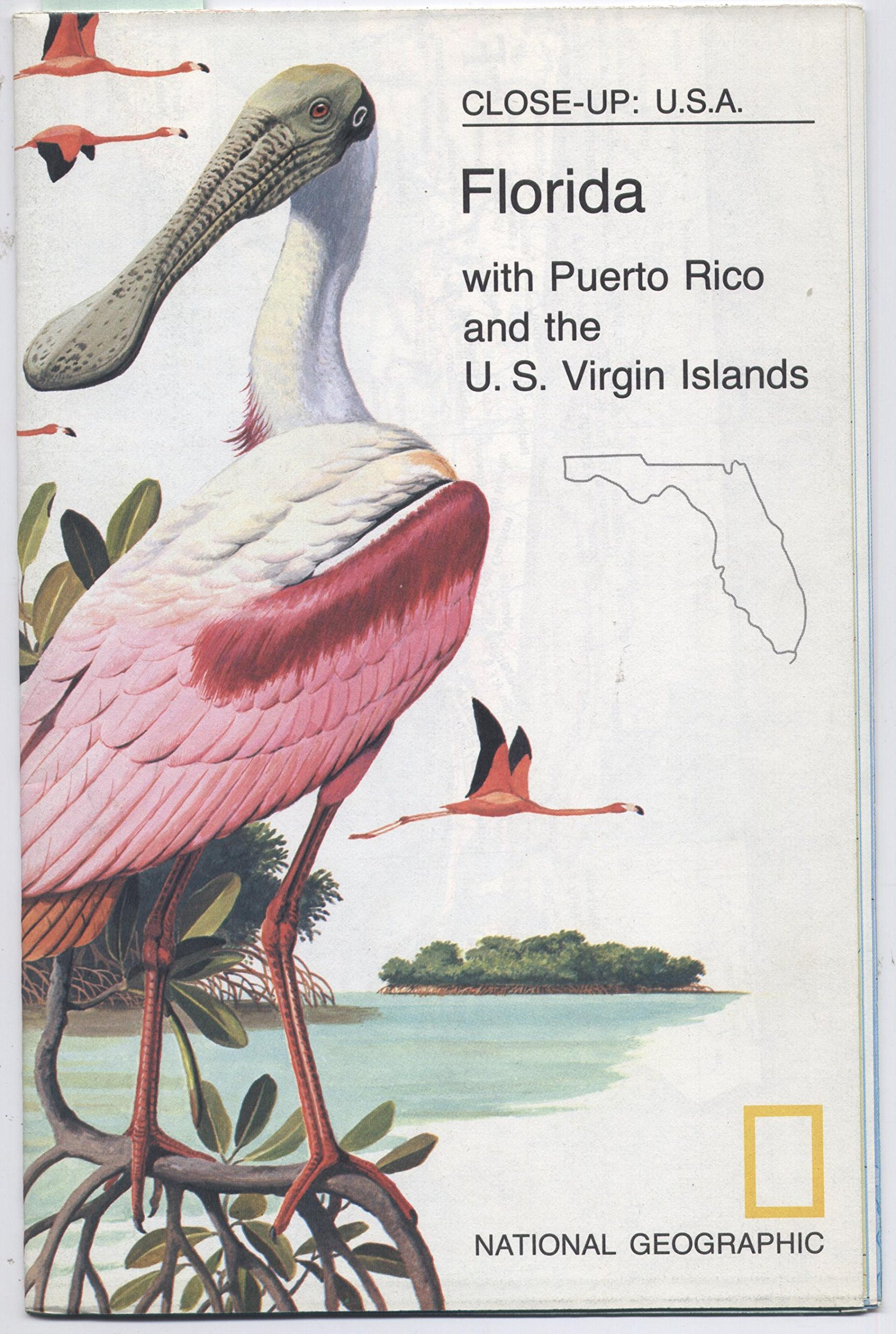 National Geographic Map - Close-up: U.S.A. - Florida with ...