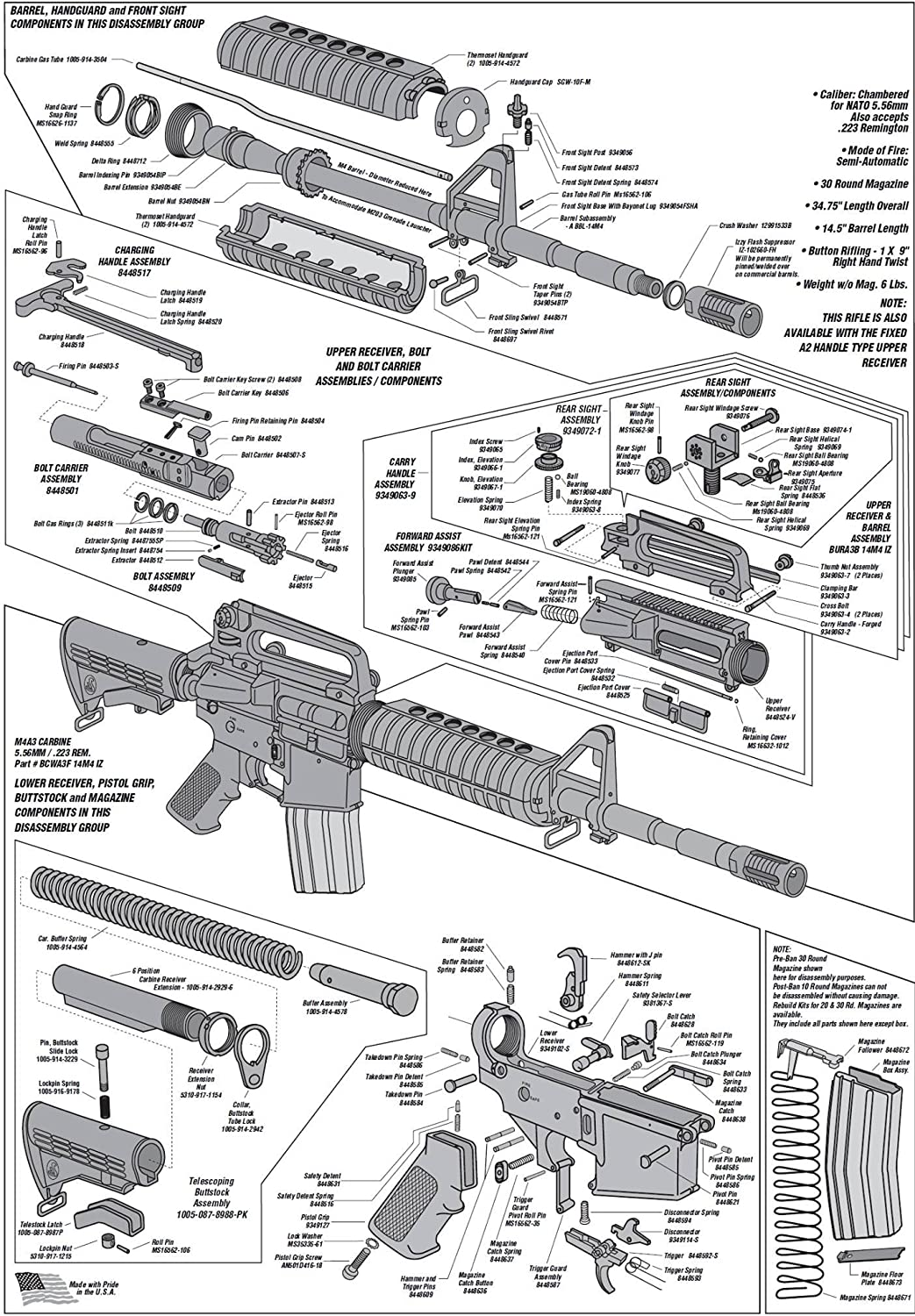 [GJFJ_338]  Amazon.com: AR-15 DIAGRAM SCHEMATIC GLOSSY POSTER PICTURE PHOTO parts gun  rifle weapon military: Office Products | Dpms Schematics |  | Amazon.com