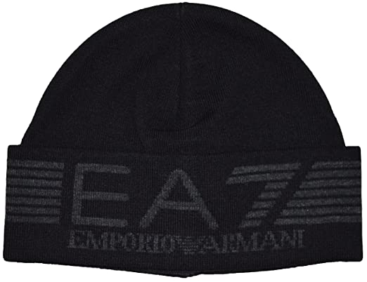 Armani EA7 Beanie Hat S275320 Black  Amazon.co.uk  Clothing e677746f207