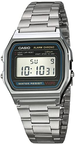 ace850e5e865 Reloj CASIO A158WA-1R Vintage Collection Digital Retro-Acero  Amazon ...