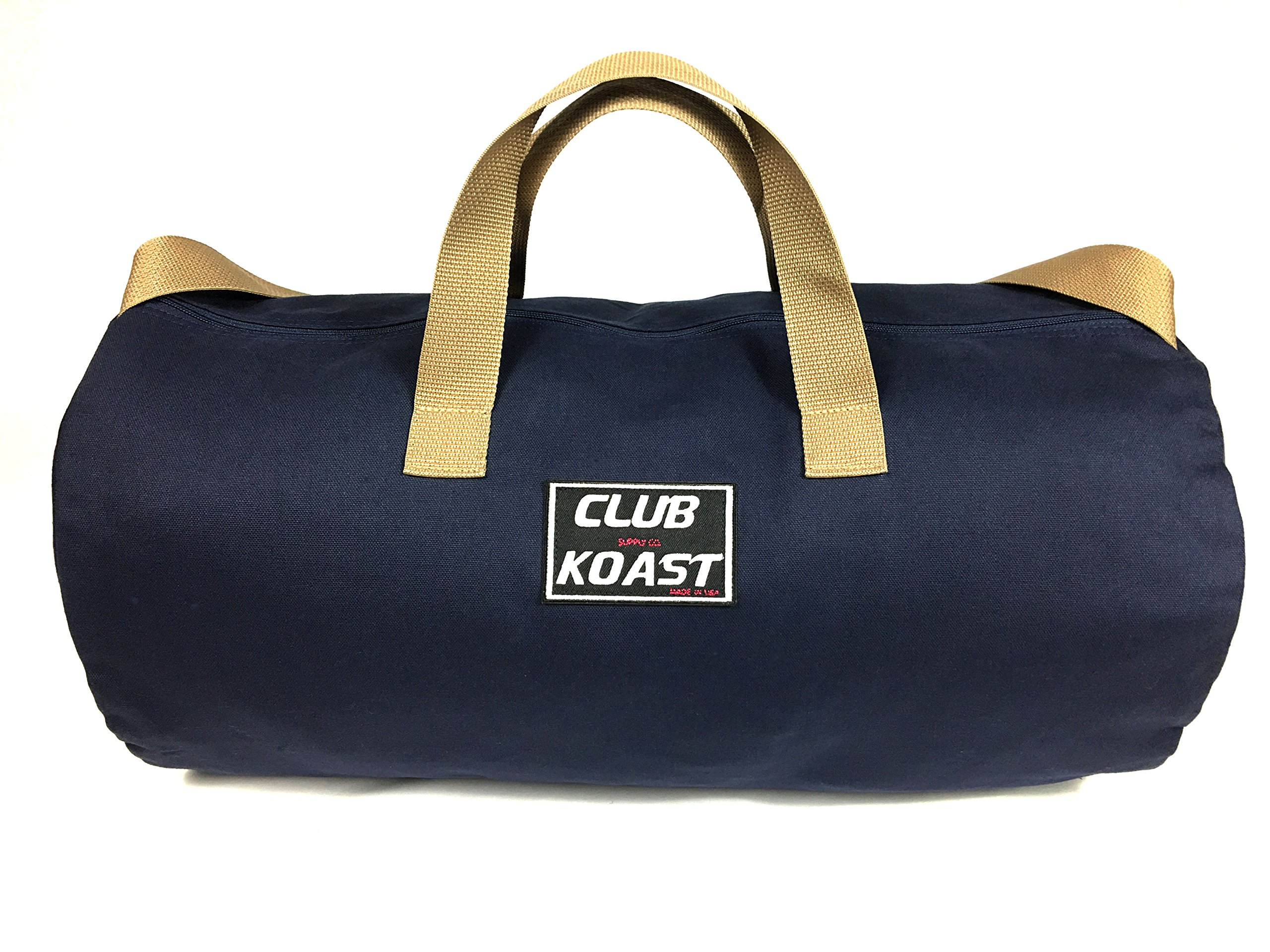 Club Koast Weekender Canvas Duffel Bag. Simple Version for Gym, Sports, Active, Travel, Heavy Duty (Made in USA)
