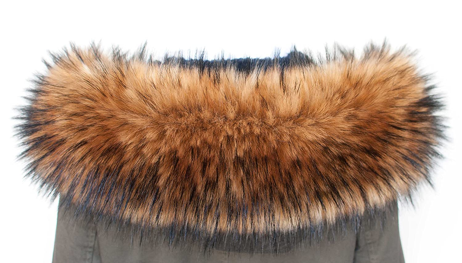 Faux fur Collar Trim Hood for Coat Jacket Mantel Pelt Scarf Stola Winter Wrap Shawl
