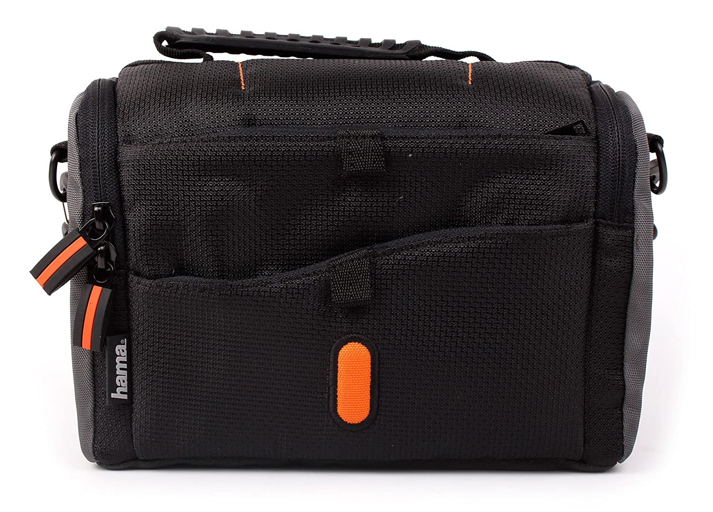 bandouli/ère Cam/éra embarqu/ée 8 Mpix WiFi sans Fil Duragadget Sacoche de Transport Noir//Orange pour GoPro Hero4 Session Black /& Silver CHDHS-101-EU