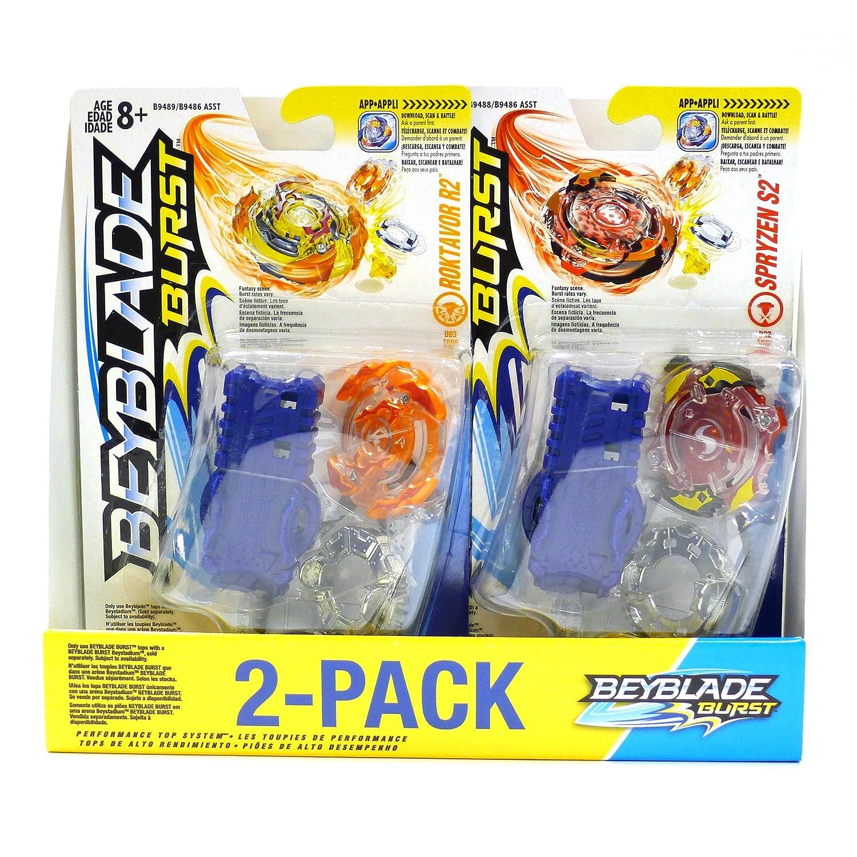 Beyblade Burst Value Starter 2-Pack Spryzen S2 and Roktavor R2 Hasbro C3599