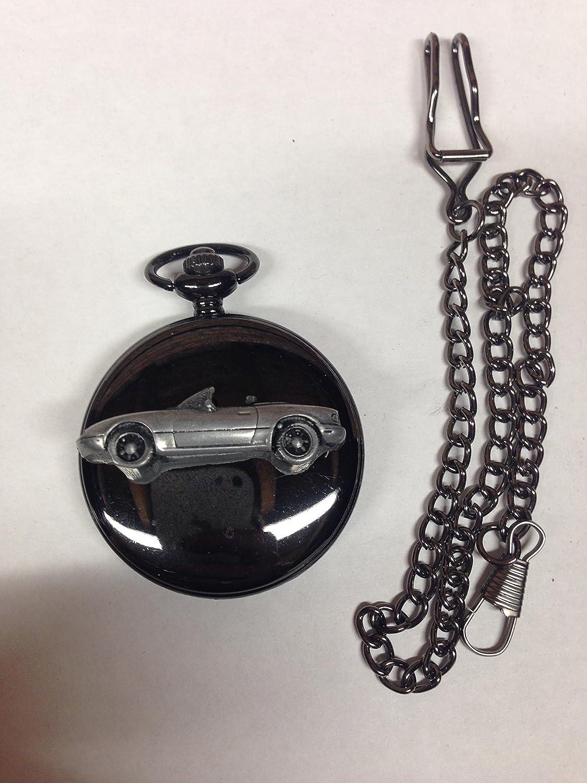 Mazda Mx 5 Miata Lhd Ref122 Zinn Effekt Auto Emblem Poliert Schwarz Fall Herren Geschenk Quarz Taschenuhr Hergestellt In Sheffield Spielzeug
