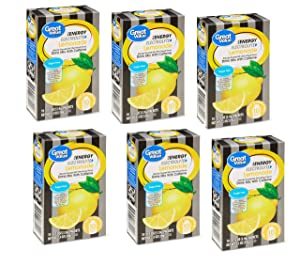 Great Value Sugar Free, Low Calorie ENERGY Lemonade Drink Mix Electrolyte