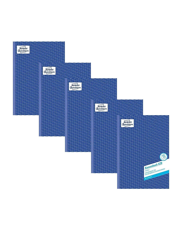 A4, nach Steuerschiene 300, von Rechtsexperten gepr/üft, f/ür Deutschland zur ordnungsgem/ä/ßen, kosteng/ünstigen Buchf/ührung, 100 Blatt AVERY Zweckform 426 Kassenbuch 2x A4 100 blatt