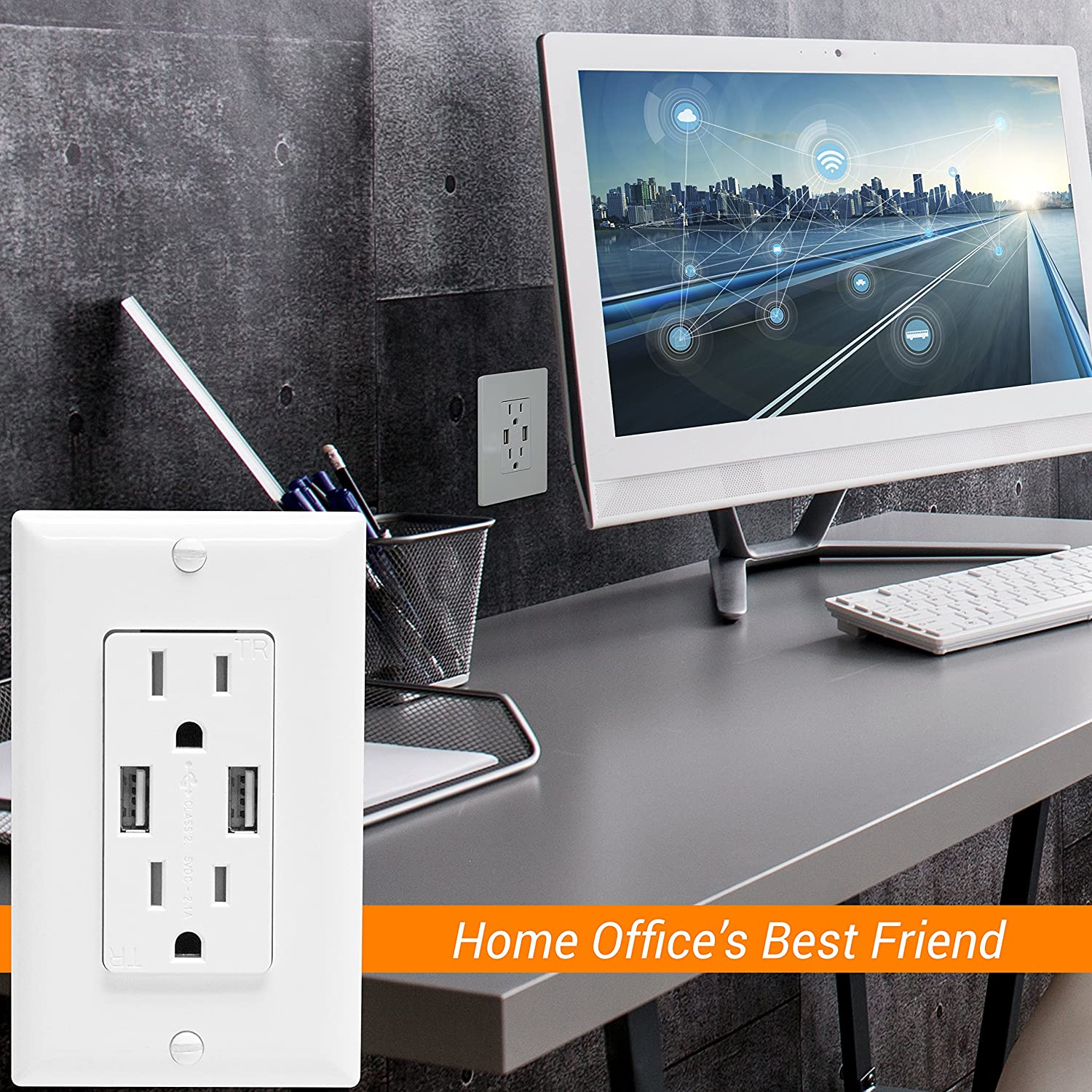 Top Greener Tu2152a W Dual Usb Outlet With Ports Charger Power 21a 15a Tamper Resistant Way Dimmer Switch Besides 3 Wiring Diagram Duplex