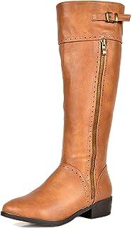 c9b9ccfe86ff DREAM PAIRS Women s Fashion Knee High Winter Riding Boots (Wide Calf)