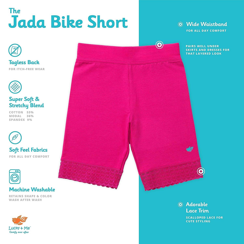 Tagless Encaje LUCKY Jada Ni/ñas Pantalones Cortos para Bicicleta algod/ón Suave Ropa Interior 3/Unidades