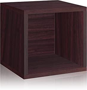 Way Basics Eco Stackable Storage Cube, Cubby Organizer (Tool-Free Assembly and Uniquely Crafted from Sustainable Non Toxic zBoard paperboard), Espresso