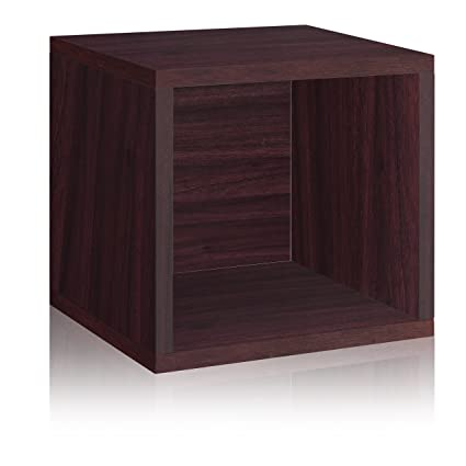 Way Basics Eco Stackable Storage Cube and Cubby Organizer Espresso (made from sustainable non  sc 1 st  Amazon.com & Amazon.com: Way Basics Eco Stackable Storage Cube and Cubby ...