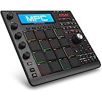 Akai Professional MPC Studio Black – Contrôleur à Pads MPC Ultra-Portable avec Logiciel MPC (en Téléchargement), Entrée USB, Écran LCD, Codeurs Tactiles, Design en Aluminium Brossé et Pochette