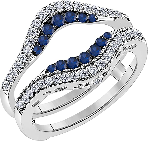 Blue Lake Gold Flake Solitaire Gold Wire Gold Plated Decors Wrap Ring Women Size 4-12