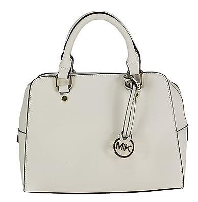 52ff794ce73f1 MIK Trendy Damen Handtasche PU-Ledertasche (White)  Amazon.de ...