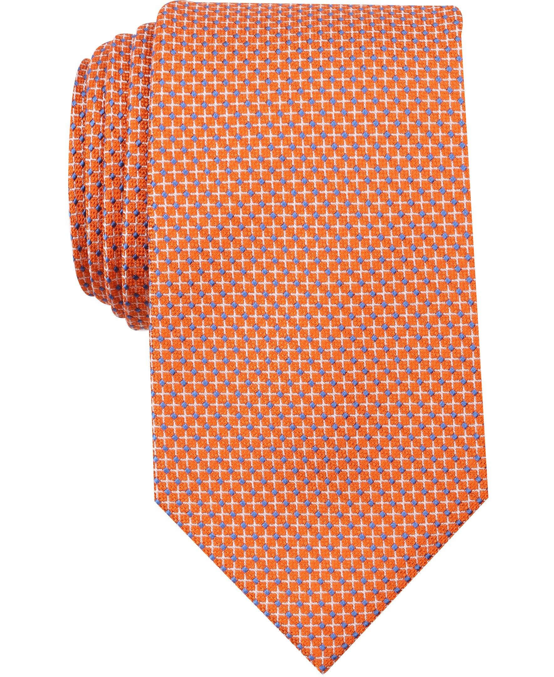 Nautica Men's Sole Neat Tie, Tangerine, One Size
