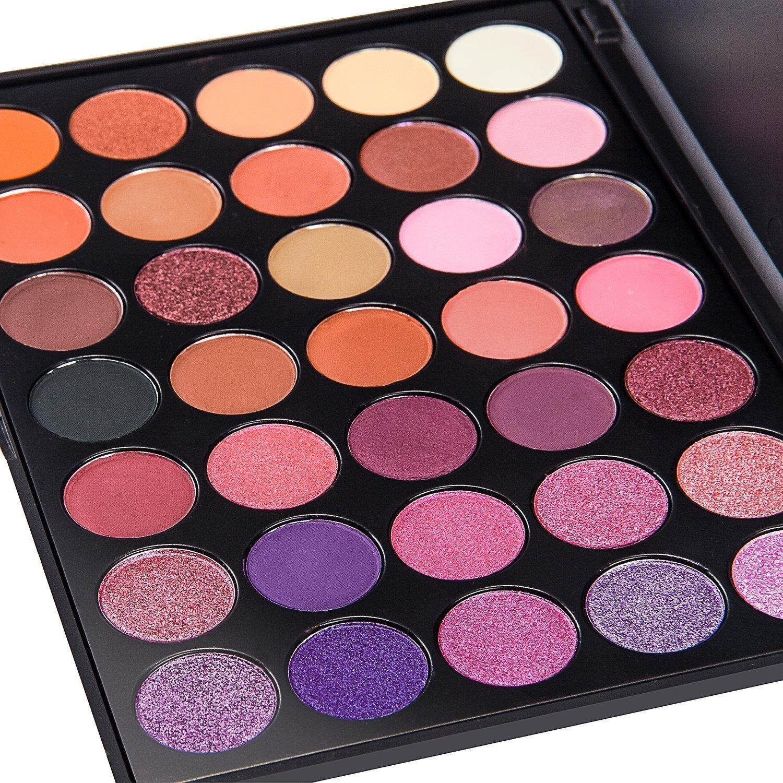 Amazon.com: DE'LANCI 35 Color Eyeshadow Makeup Palette Set ...