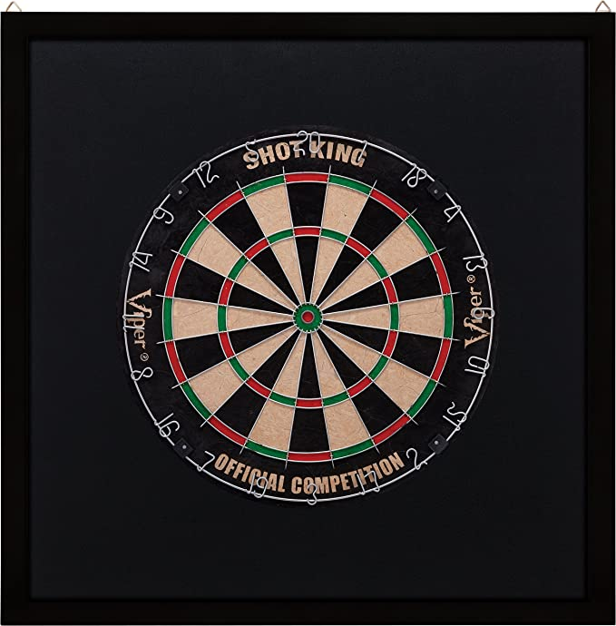 Viper Wood Framed Dart board Backboard, Dark Mahogany Finish - The Best-looking Backboard