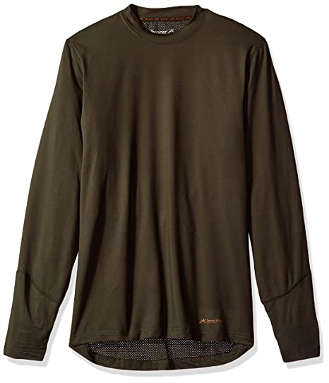 3c4031a1c Terramar Men's Thermolator Climasense 4-Way Stretch Brushed Crew Neck Top