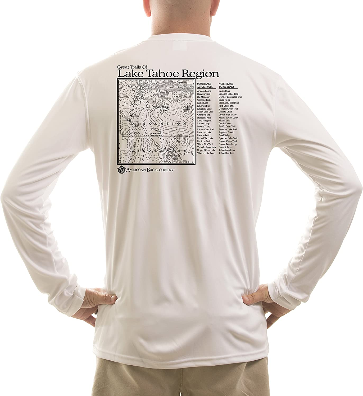 Long Sleeve T-shirt American Backcountry Mens Lake Tahoe Region UPF 50