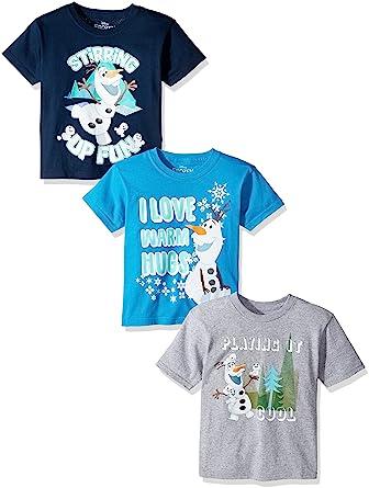 0fca7718 Amazon.com: Disney Toddler Boys' Frozen Olaf 3-Pack Short Sleeve T ...