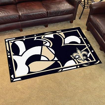 86be5403 Amazon.com: 4'x6' NFL New Orleans Saints Rug Sports Football Area ...