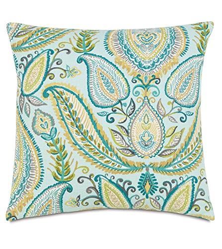 Amazon Ombre Paisley Pool Aqua Teal Green Decorative Pillow Mesmerizing Teal Green Decorative Pillows