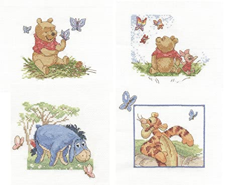 Dmc cross stitch kits disney winnie the pooh limited edtion dmc cross stitch kits disney winnie the pooh limited edtion butterflies collection voltagebd Gallery
