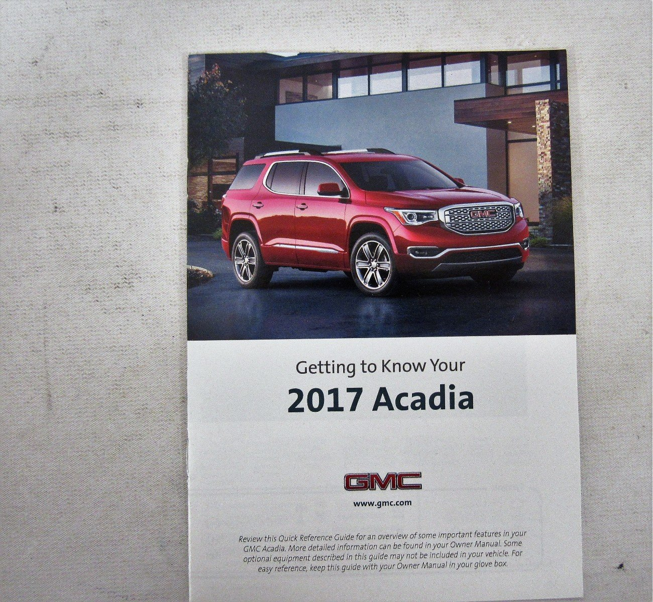 2017 gmc acadia owners manual