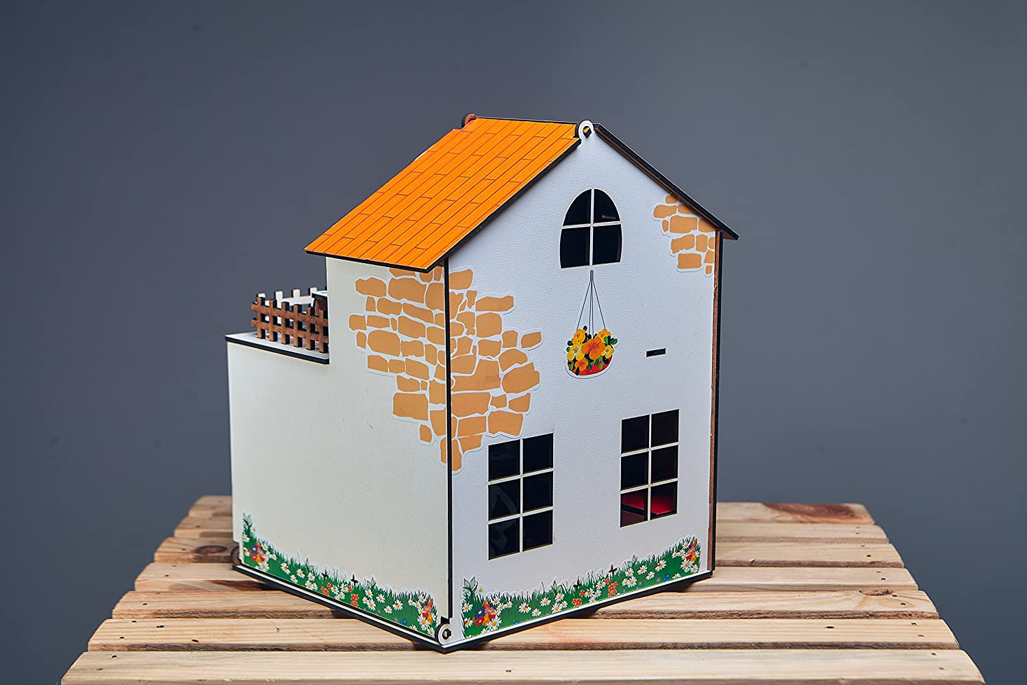 eco-friendly House with a Terrace 3d puzzles