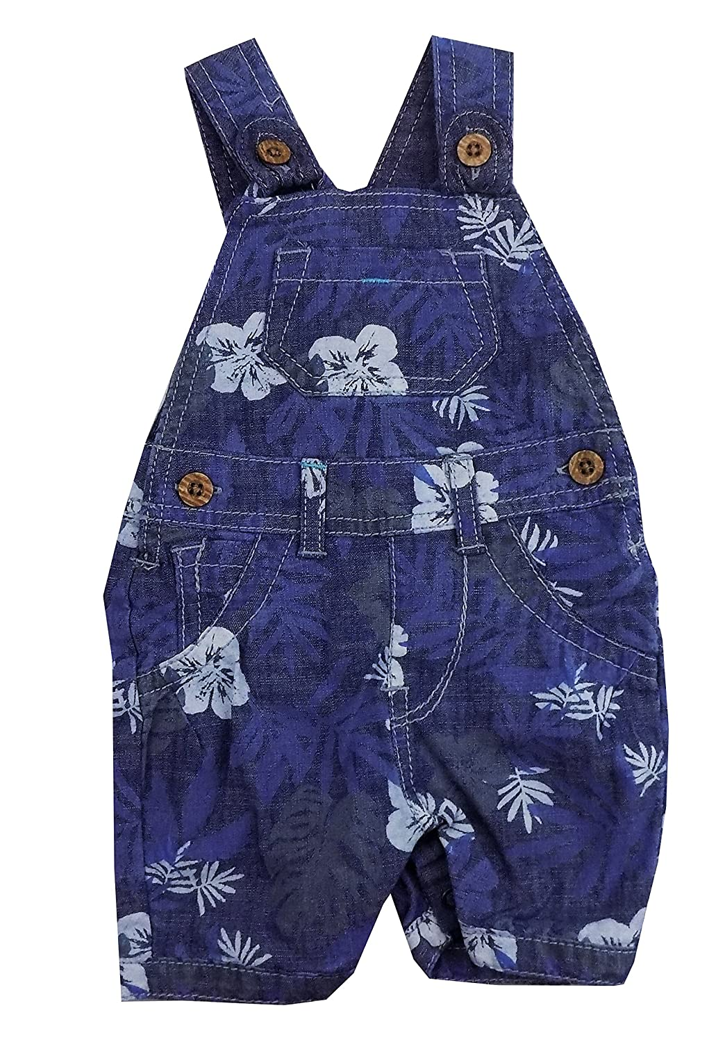 Baby Girl Dungaree Outfits Denim Blue Floral Print FS 6/9 9/12 months