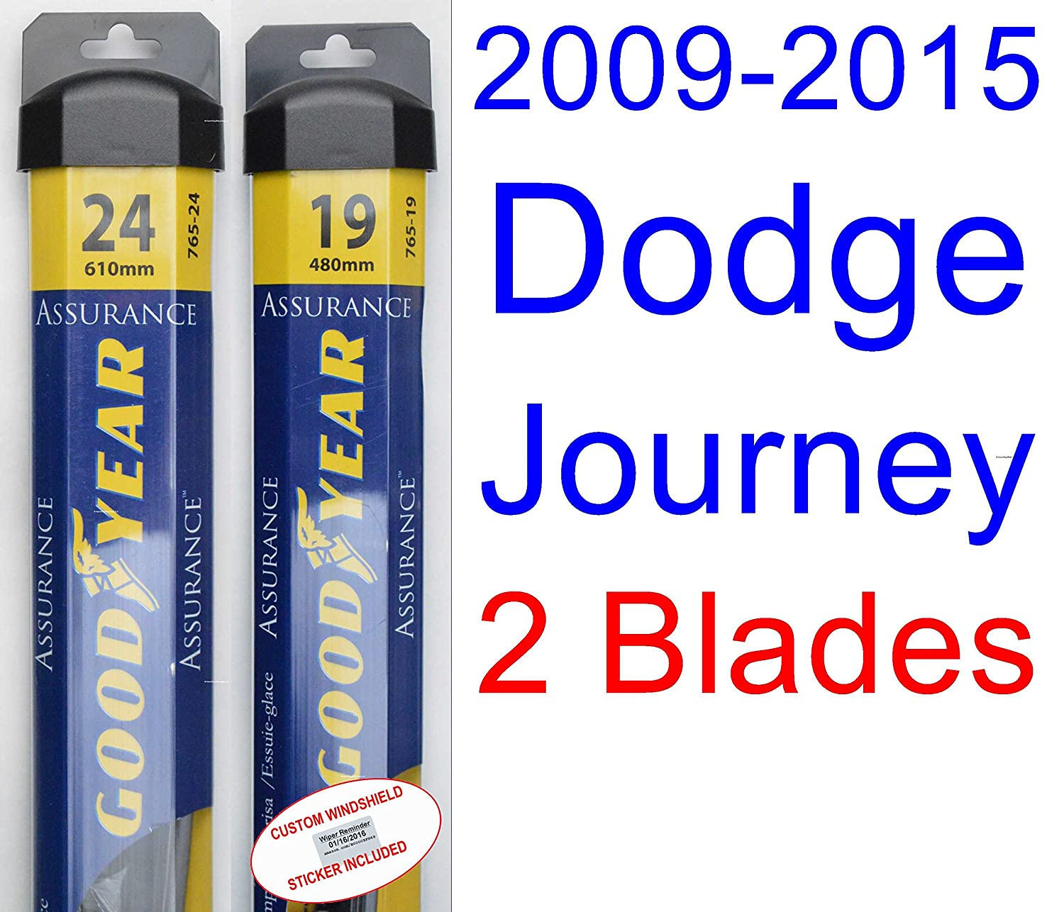 Amazon.com: 2009-2015 Dodge Journey Replacement Wiper Blade Set/Kit (Set of 3 Blades) (Goodyear Wiper Blades-Assurance) (2010,2011,2012,2013,2014): ...