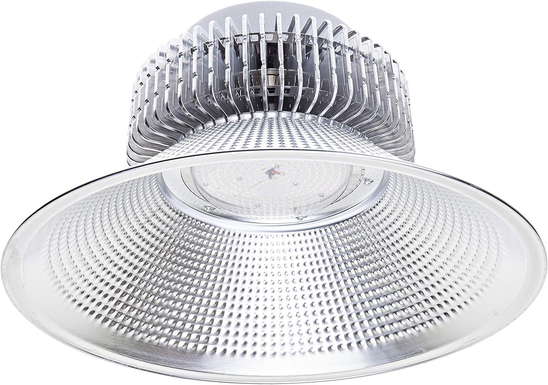 Jandei - Campana LED suspendida 200W 21000 lúmenes (=600W) luz blanca 6000K Interior IP20 para taller, almacén...