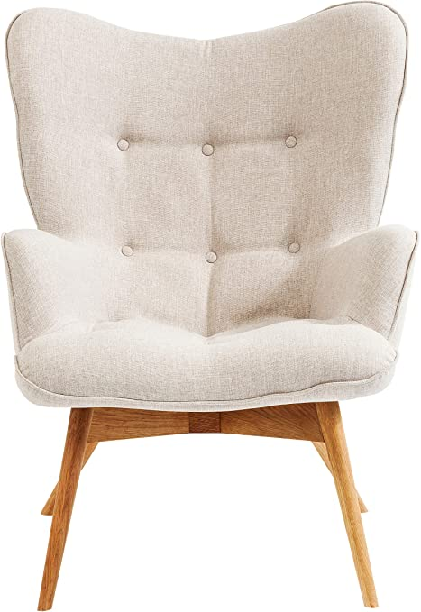 Kare Design Sessel Vicky Gemütlicher Loungesessel Mit Armlehne Tv Sessel Mit Hellem Holzgestell Hxbxt 94x73x83cm Weiß Amazon De Küche Haushalt