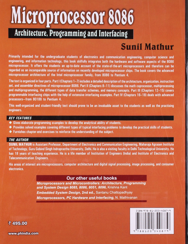 Microprocessor 8086 Book By Bhurchandi Pdf