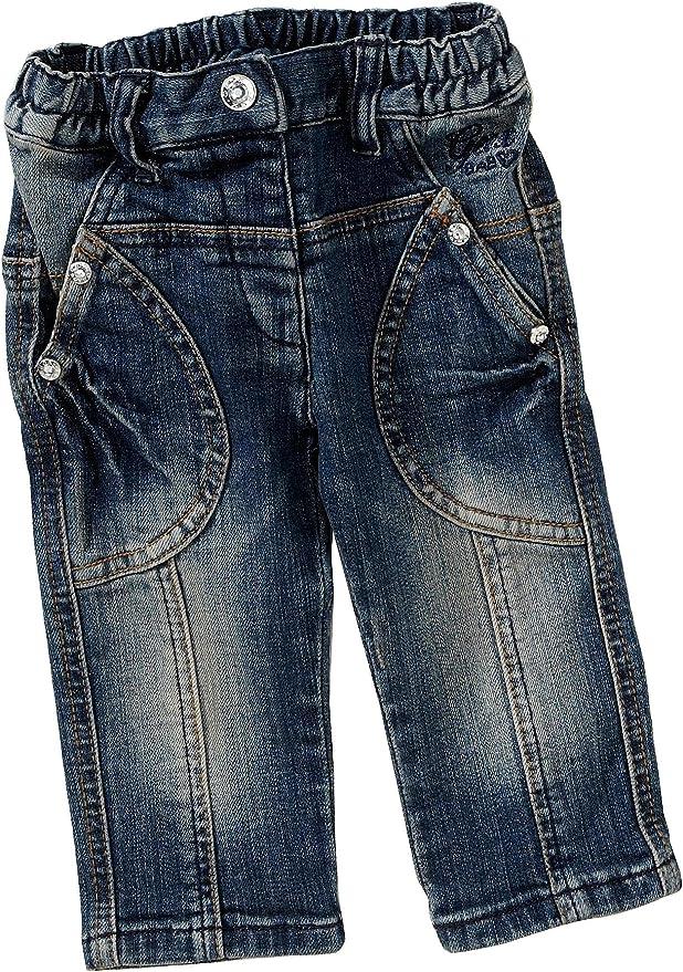 Geox - Pantalones para niña azul de 99% algodón 1% elastano, talla: 80cm (12-18 meses): Amazon.es: Bebé